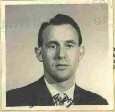 A 1959 photo of Freidrich Karl Berger, who has been deported to Germany because of his participation as a Nazi guard, is shown. Photo courtesy of U.S. Department of Justice