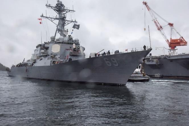 USS Milius departs from Fleet Activities Yokosuka for sea trials. Photo byKelsey Aguirre/U.S. Navy