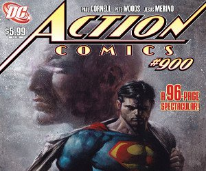 The cover of Action Comics #900, courtesy of DC.