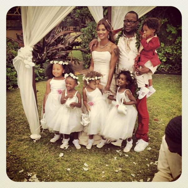 Photo of Bobby Brown, Alicia Etheredge and members of their wedding party. Posted on Instagram by Bobby Brown Jr.