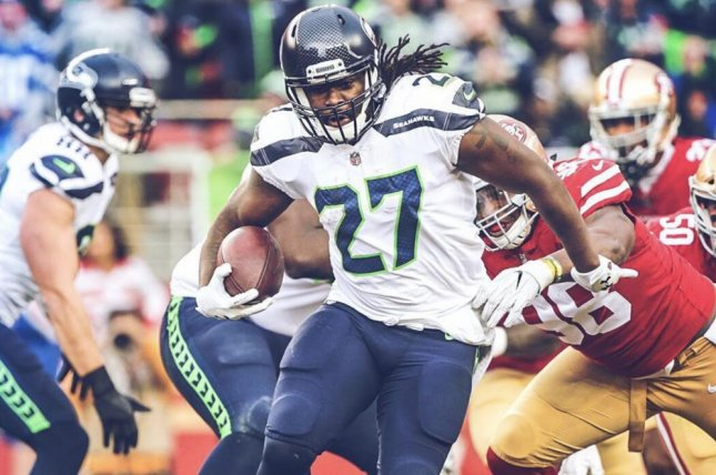 Seattle Seahawks running back Eddie Lacy. Photo courtesy of the Seattle Seahawks/Instagram