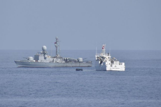 The USNS Trenton (L) concluded exercises with the Tunisian navy on the Mediterranean Sea last wee. Photo courtesy of U.S. Navy