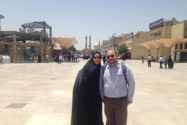 Jason Rezaian, Washington Post Tehran Bureau Chief, in an undated photo with wife Yeganeh Salehi. Facebook/Free Jason & Yegi