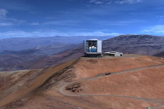 An artistic rendering of the Giant Magellan Telescope at Las Campanas Observatory in Chile's Atacama Desert. Photo by GMTO Corporation/University of Texas