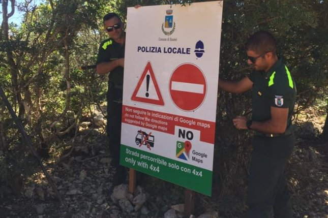 Baunei, a town in the Ogliastra area on the Italian island of Sardinia, is urging tourists not to use Google Maps after bad directions from the app led to 144 emergency calls from stranded hikers and drivers in the last two years. Photo courtesy of the Comune di Baunei