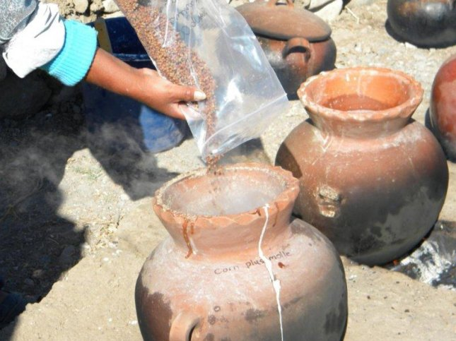 The team worked with Peruvian brewers to recreate the ancient chicha recipe used at Cerro Baul. Photo by Donna Nash/University of North Carolina at Greensboro/Field Museum