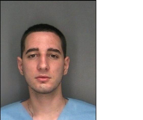 Nicholas S. Volmer, the jumper, as seen in his mugshot courtesy of Rensselaer Police Department.
