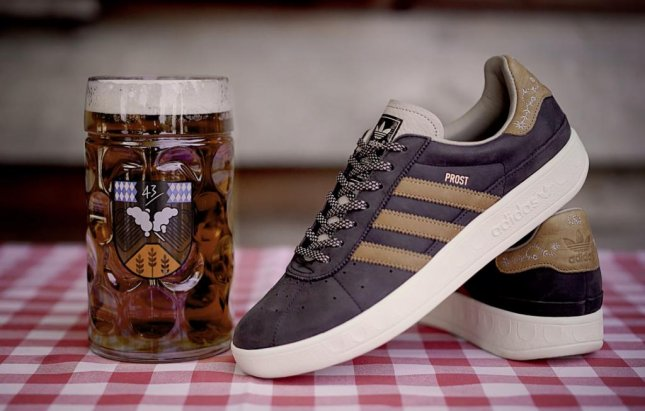 Adidas collaborated with German sneaker retailer 43einhalb to create a puke and beer repellent Oktoberfest sneaker. 