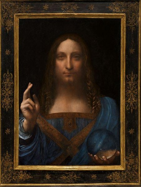 The Salvator Mundi by Leonardo da Vinci is expected to sell for more than $100 million. Photo courtesy of Christie's