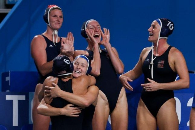 Team USA advances to the gold-medal game in women's water polo. Photo courtesy of FINA/Twitter
