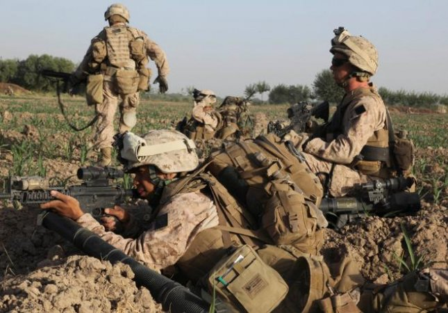 U.S. troops in Helmand province, Afghanistan, where the provincial capital of Lashkar Gah is in danger of falling to the Taliban. Photo courtesy of u.s. Department of Defense