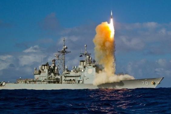 A DDG Destroyer equipped with AEGIS firing missile. Lockheed Martin has been contracted by the Department of Defense to provide the system to Japan. Photo courtesy of U.S. Navy