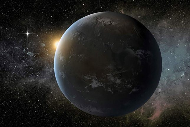 An artistic rendering of the exoplanet Wolf 1061c. Photo by NASA/Ames/JPL-Caltech