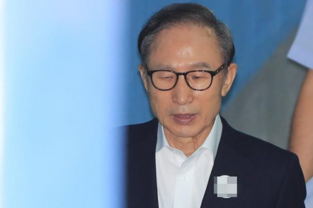 Former South Korean President Lee Myung-bak has been convicted of embezzling funds during his term of office. File Photo by Yonhap