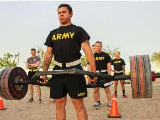 Soldiers at Fort Bliss, Texas, participate in the Army Combat Fitness Test, which two U.S. senators criticized on Wednesday in calling for its suspension and review. Photo by Sgt. Brittany Johnson/U.S. Army National Guard