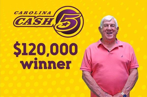 Jerry Dennis, of Concord, N.C., said the Cash 5 lottery ticket that earned him a $120,000 jackpot was nearly tossed out the window of his truck while he was cleaning trash out of it. Photo courtesy of the North Carolina Education Lottery