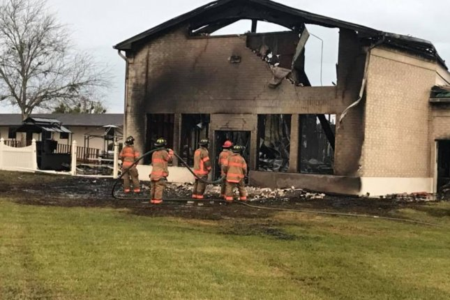 The Islamic Center of Victoria in Texas was destroyed in an early morning fire. Investigators are working to determine the cause of the blaze. Photo courtesy Islamic Center of Victoria