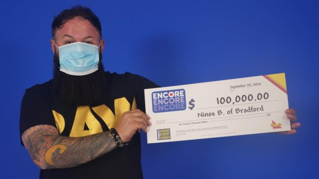 Ninos Barcham of Bradford, Ontario, won his second $75,000 lottery jackpot in the span of three months. Photo courtesy of the Ontario Lotteries and Gaming Corp.