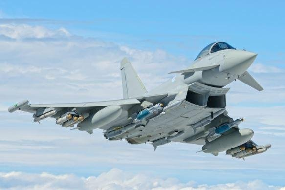 The British Ministry of Defense announced a plan for use of aviation fuel made from wood, alcohol and other sustainable sources to power aircraft like the Typhoon fighter plane, pictured. Photo courtesy of British Ministry of Defense