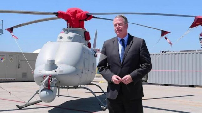 Acting Navy Secretary Thomas W. Harker attended the Unmanned Systems Integrated Battle Problem 21 exercises at Naval Base San Diego. Photo courtesy of U.S. Navy