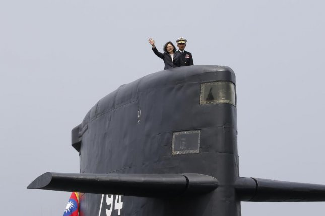 Taiwanese defense leaders hope to commission their first home-built submarine within the next decade. Photo by Ritchie B. Tongo/EPA