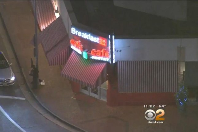 The Original Pantry Cafe, where a human leg was stolen from a tissue transport van early Monday. CBS Los Angeles video screenshot