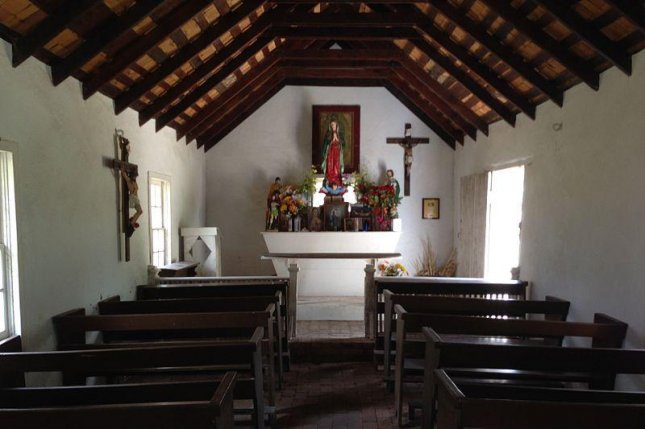 The U.S. government sued the La Lomita Chapel's property owners, the Diocese of Brownsville, for access to the land to conduct a survey for construction of a border wall through Mission, Texas. Photo courtesy of Wikimedia Commons