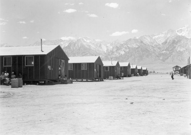 A photo of the Manzanar internment camp in July 1942. Credit: