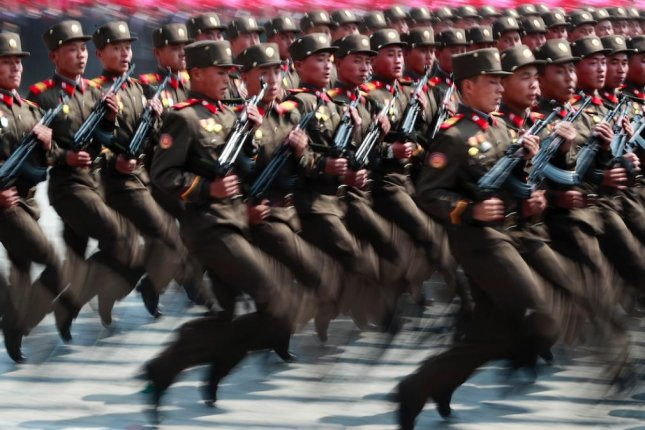 North Korea has been boosting its military as Kim Jong Un continues to consolidate his power. File Photo by How Hwee Young/EPA