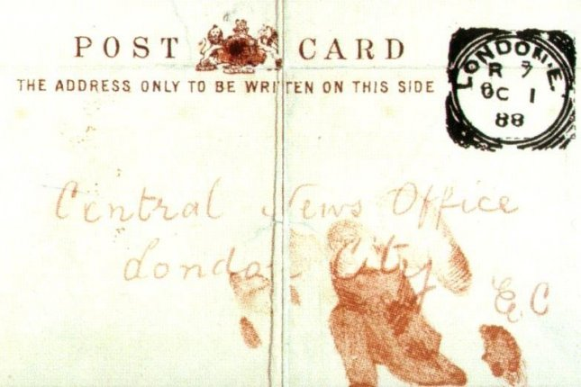 jack the ripper letters written by the same person forensic