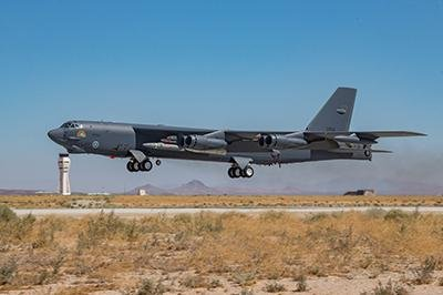 The U.S. Air Force and Lockheed Martin successfully tested hypersonic weapon aboard a B-52 a second time Saturday from Edwards Air Force Base, Calif. Photo courtesy of U.S. Air Force