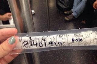 Microbial sample collected from subway car in New York. Photo by Rockefeller's Science Outreach.