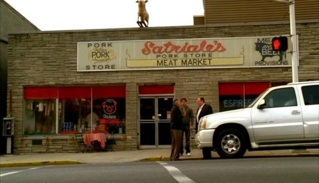 James Gandolfini and co-stars in a scene from HBO's The Sopranos. Photo provided by R.R. Auction.
