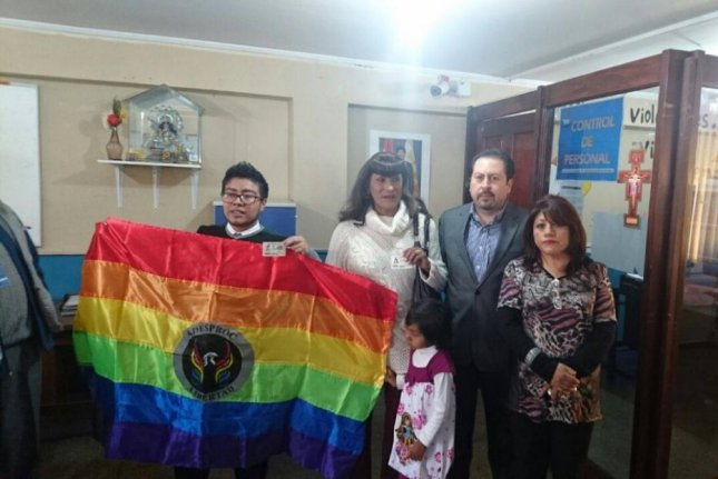 Bolivia's transgender community celebrated the arrival of identification cards that match with the gender with which they identify. LBGT groups estimate about 1,500 transgender people in Bolivia will change their government-issued documents as allowed under a new law. Photo courtesy of Bolivia's General Personal Identification Service