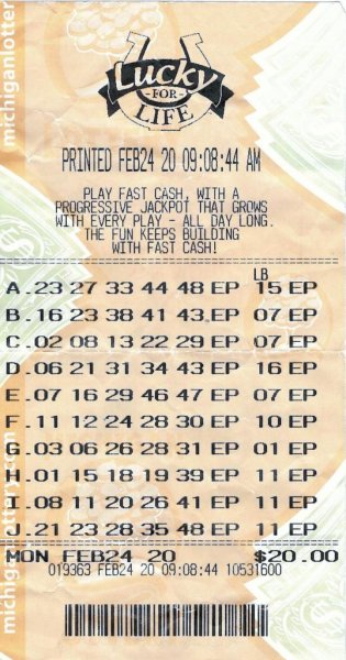 A Michigan man said the clerk at his local 7-Eleven store called him at home to tip him off that he had won $25,000 a year for life from a lottery drawing. Photo courtesy of the Michigan Lottery