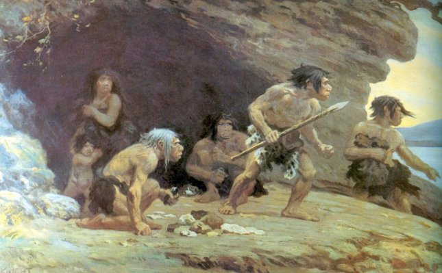 New DNA analysis suggests that Neanderthals had a lower tolerance for pain than modern humans. Illustration by Charles R. Knight/Wikimedia