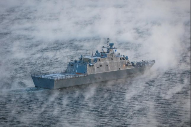 The USS St. Louis, shown here during acceptance trials in December 2019, was delivered to the U.S. Navy this week. Photo courtesy of Lockheed Martin