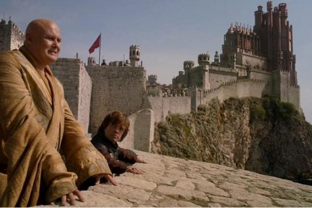 Varys (Conleth Hill) and Tyrion (Peter Dinklage) survey Kings Landing.