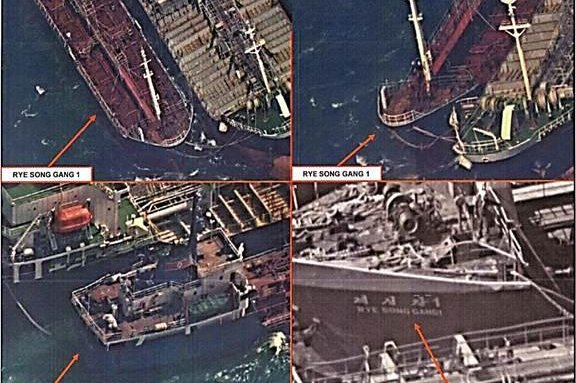 South Korea Holds Ship Thought to Convey Oil to North Korean Vessel