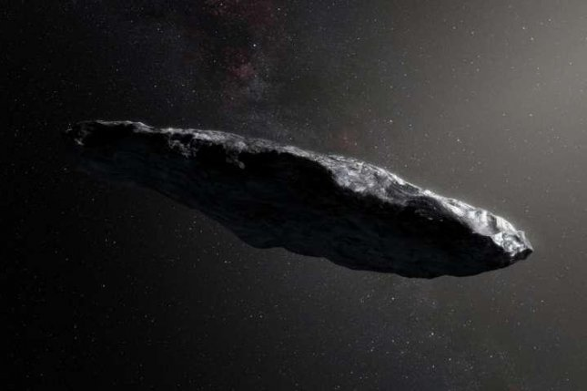 Oumuamua tumbling through the universe for 1m years