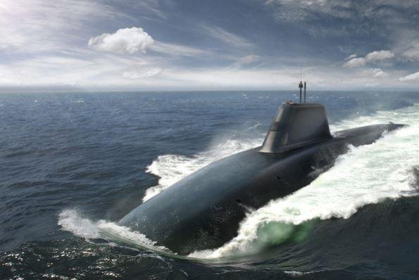 The third submarine in the British Royal Navy's Dreadnaught class, seen here in an artist's conception, will be named the HMS Warspite, British Defense Secretary Gacin Williamson revealed on Monday. Photo courtesy of BAE Systems
