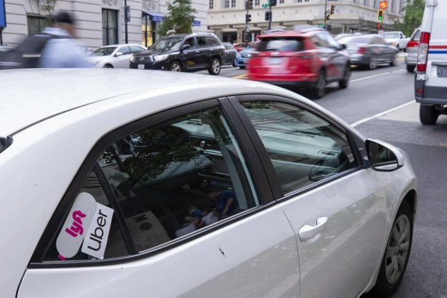 New York City's plan to limit riderless cruising by Lyft and Uber drivers was dismissed by a Manhattan judge. File Photo by Erik S. Lesser/EPA-EFE