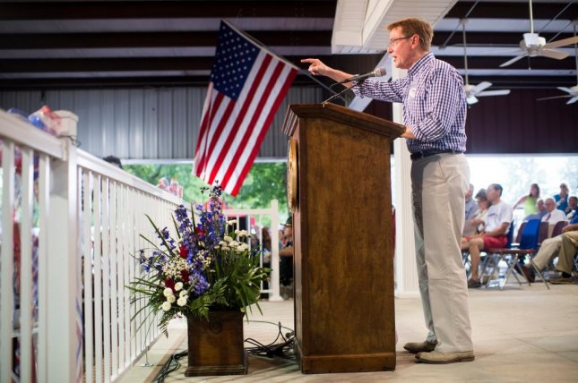 U.S. Senate candidate Jim Gray speaks at the annual Fancy Farm Picnic in Fancy Farm, Ky., on Aug. 6. Photo by Bill Clark/CQ Roll Call
