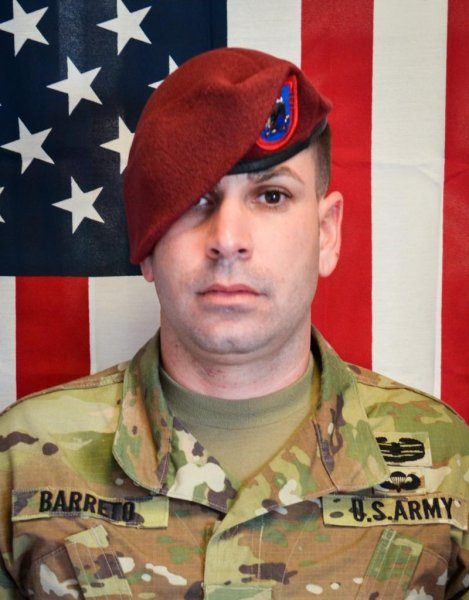 Sgt. 1st Class Elis A. Barreto Ortiz was from Morovis, Puerto Rico. File Photo courtesy of the Department of Defense