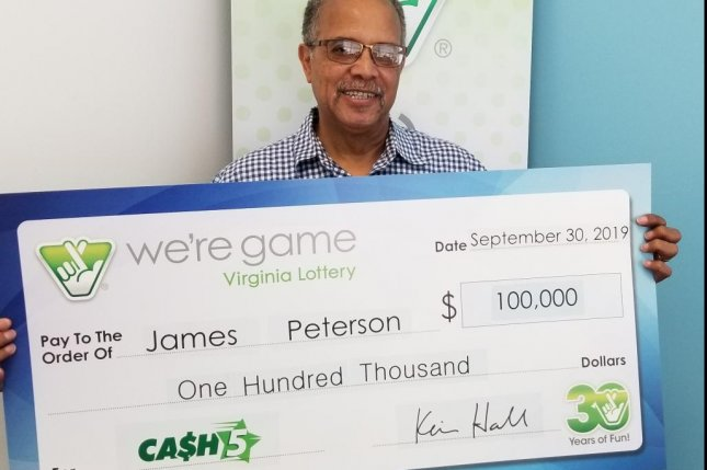 A Virginia man won a $100,000 lottery jackpot just over three months after collecting a $200,000 prize. Photo courtesy of the Virginia Lottery