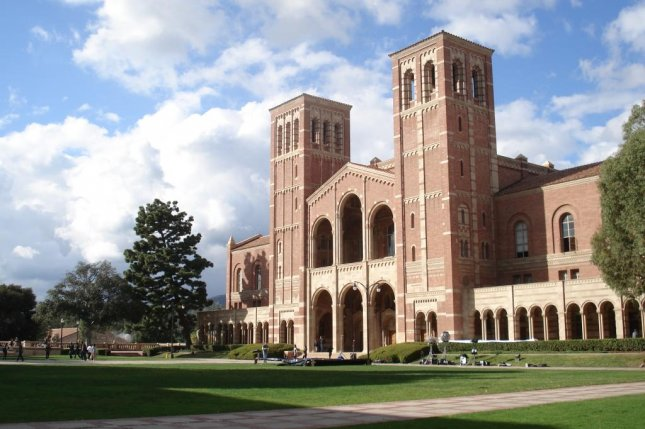 This 2009 photo shows Royce Hall, one of the original four buildings on the University of California, Los Angeles campus. Photo by Alton (CC BY-SA 3.0)via Wikimedia Commons