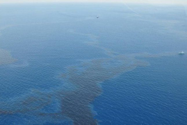 Shell says it's spilled more than 2,000 barrels of oil in the Gulf of Mexico, but expects no shoreline impact from the release. Photo courtesy of U.S. Coast Guard District 8.