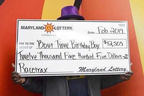A Maryland man changed up his usual numbers to win a $12,505 jackpot in time for his birthday. Photo courtesy of the Maryland Lottery