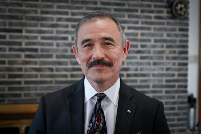 U.S. Ambassador to South Korea Harry Harris told reporters at his residence on Thursday that Seoul should contribute more to the costs of maintaining U.S. troops on the Korean Peninsula. Photo by Thomas Maresca/UPI