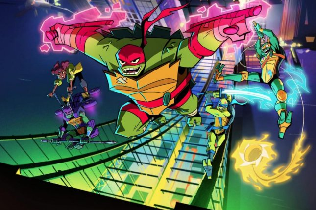 Nickelodeon shared the first image from Rise of the Teenage Mutant Ninja Turtles. Photo courtesy of Nickelodeon